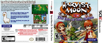 Harvest Moon 3D - The Tale of Two Towns 3DS cover (AT2E)