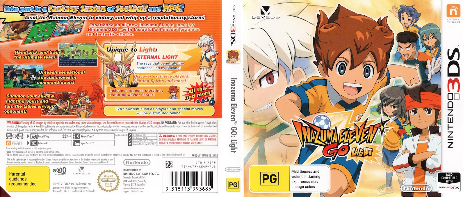 Inazuma Eleven Go - Light 3DS coverfullHQ (AE4P)