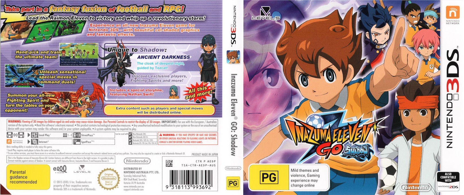 Inazuma Eleven Go - Shadow 3DS coverfullHQ (AEDP)
