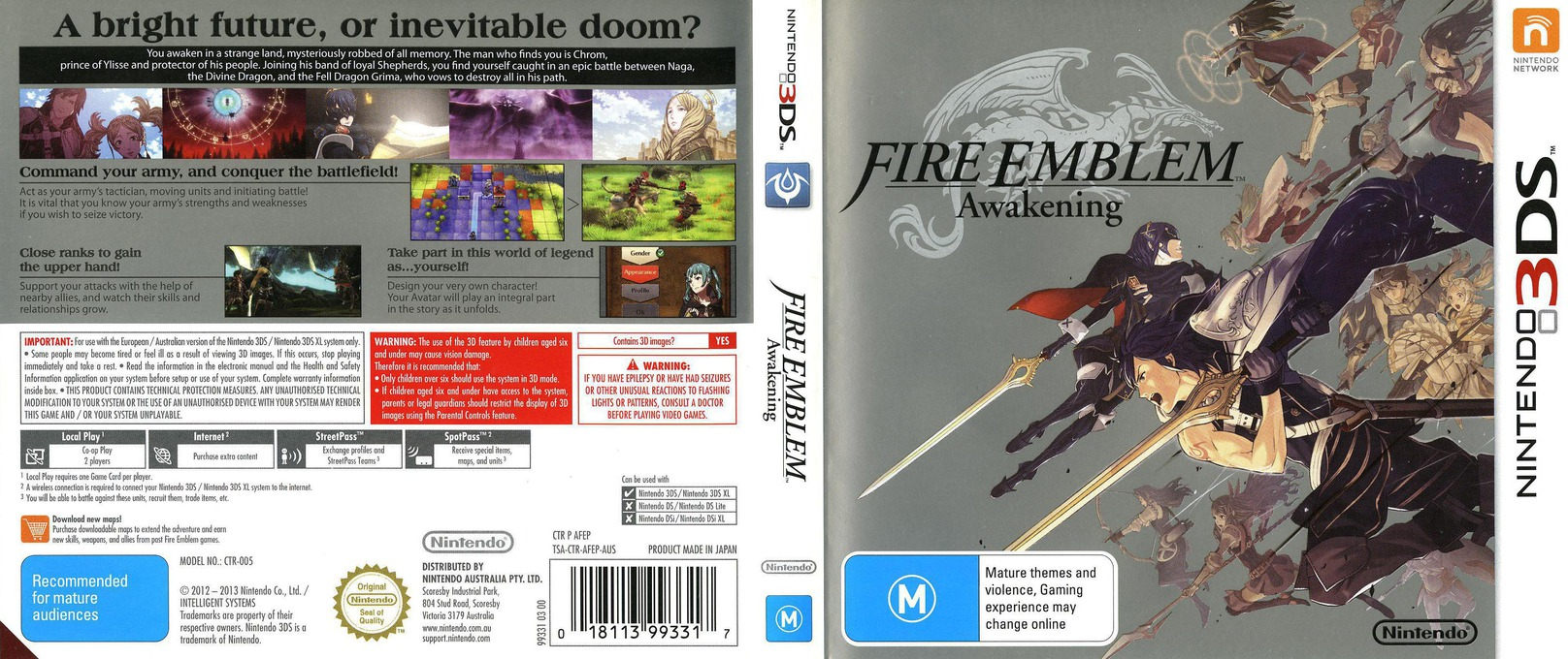 Fire Emblem - Awakening 3DS coverfullHQ (AFEP)