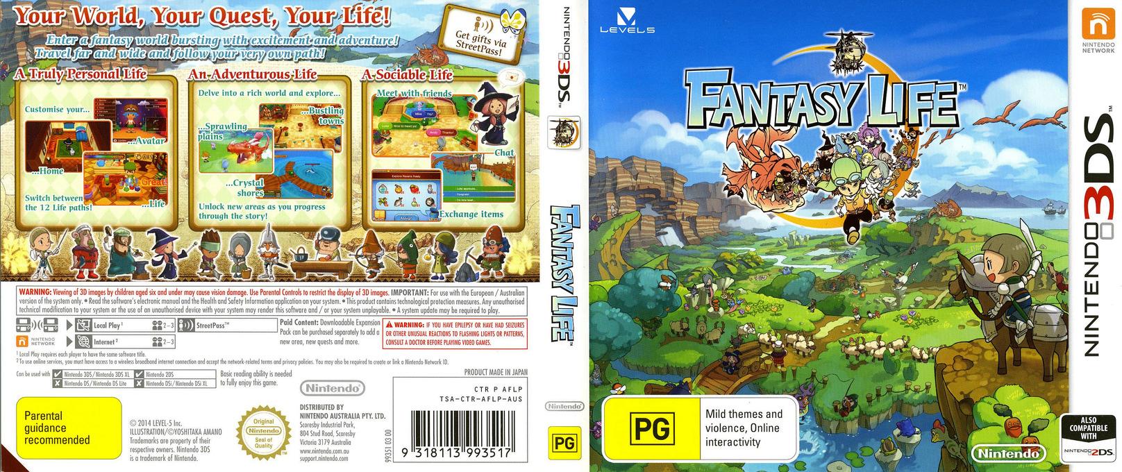 Fantasy Life 3DS coverfullHQ (AFLP)