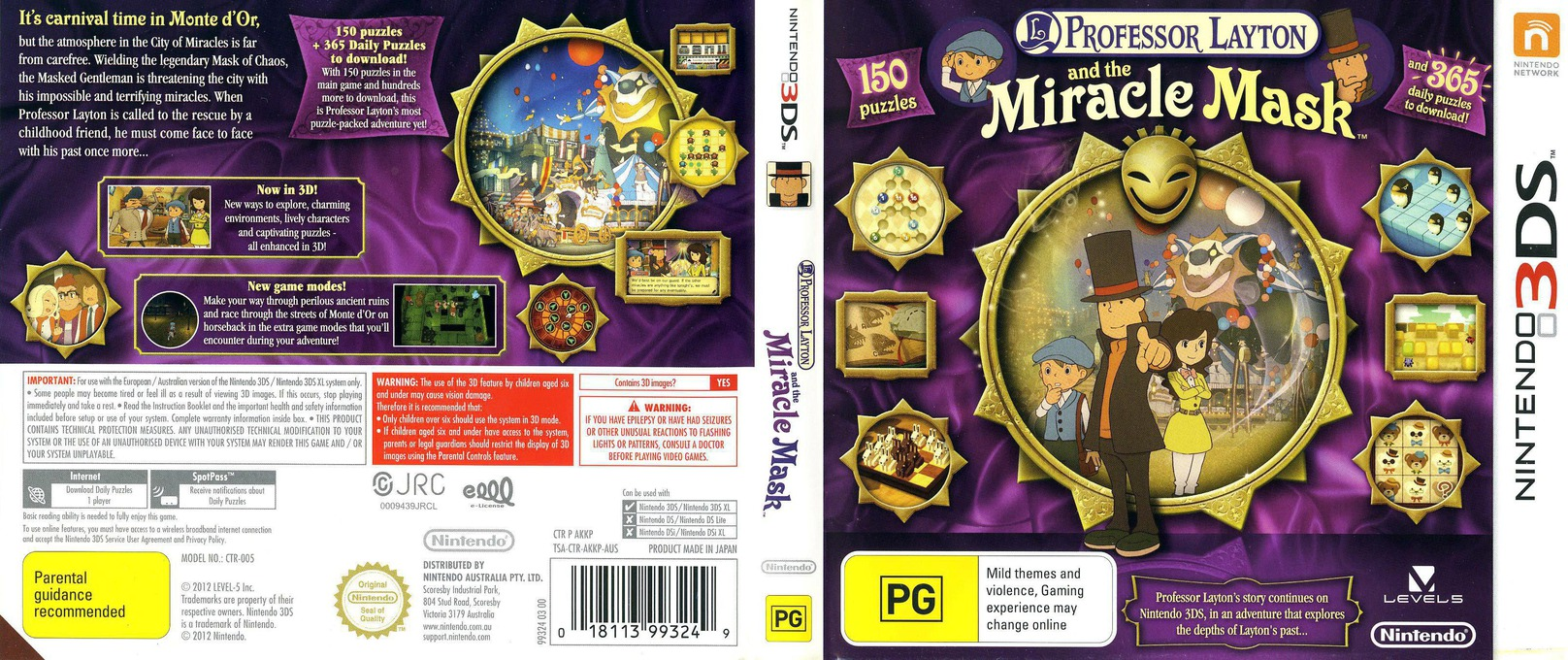 Professor Layton and the Miracle Mask 3DS coverfullHQ (AKKP)