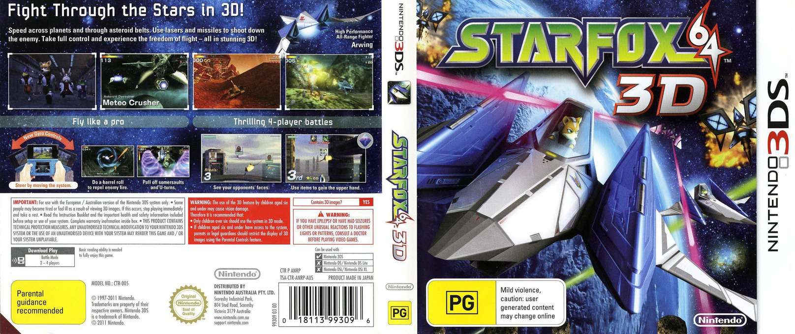 Star Fox 64 3D 3DS coverfullHQ (ANRP)