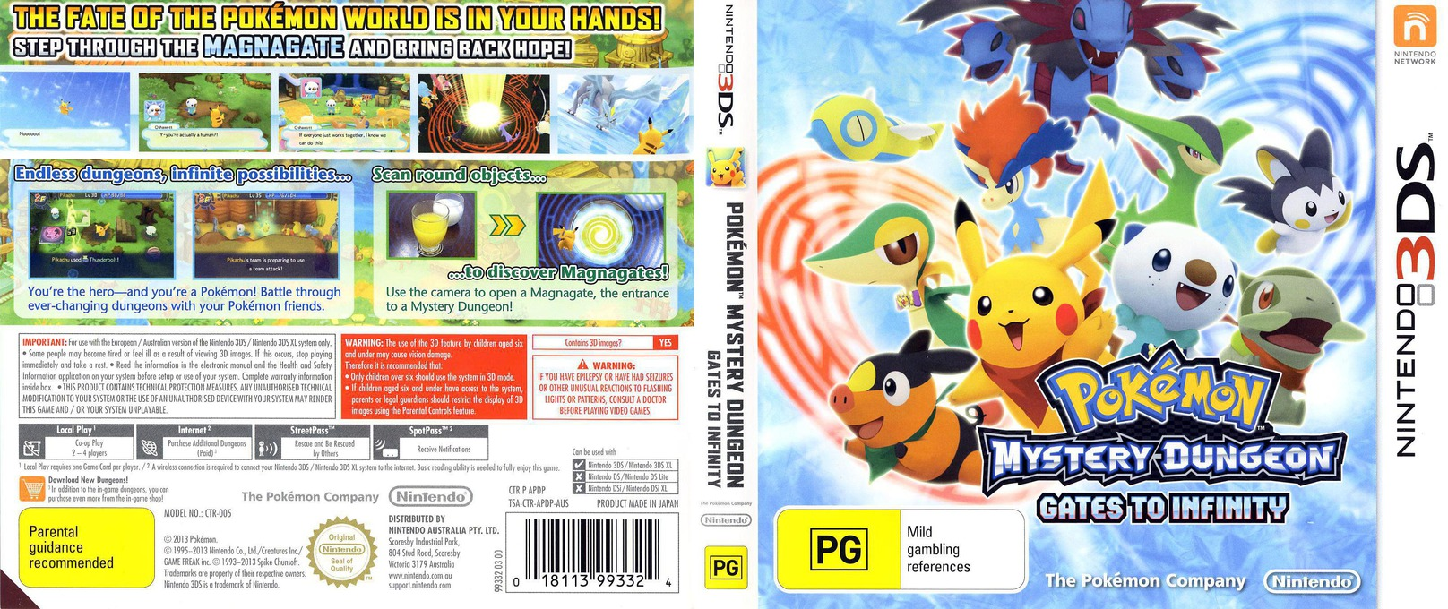 Pokémon Mystery Dungeon - Gates to Infinity 3DS coverfullHQ (APDP)