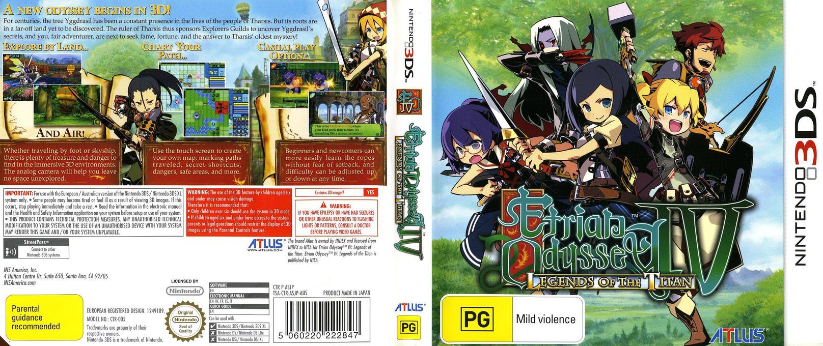 Etrian Odyssey IV - Legends of the Titan 3DS coverfullHQ (ASJP)