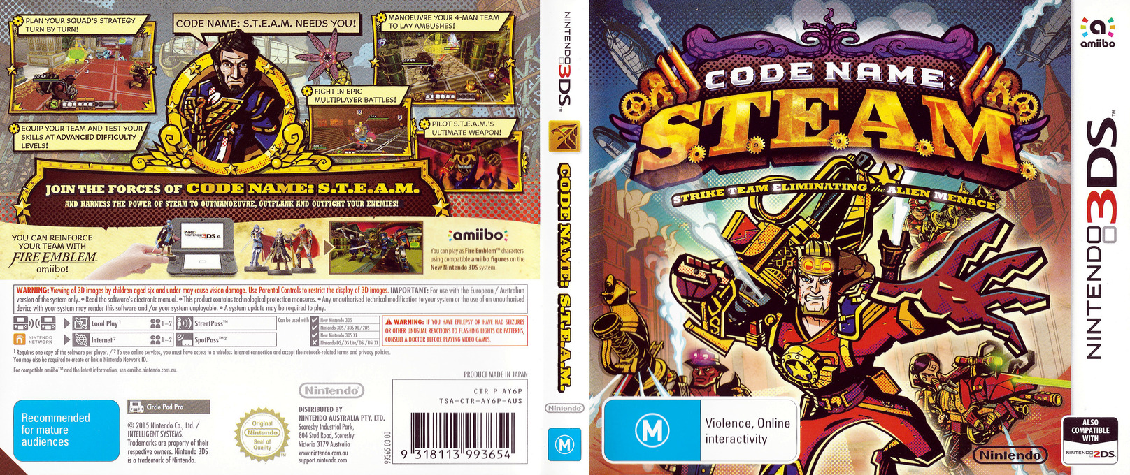 Code Name: S.T.E.A.M. 3DS coverfullHQ (AY6P)