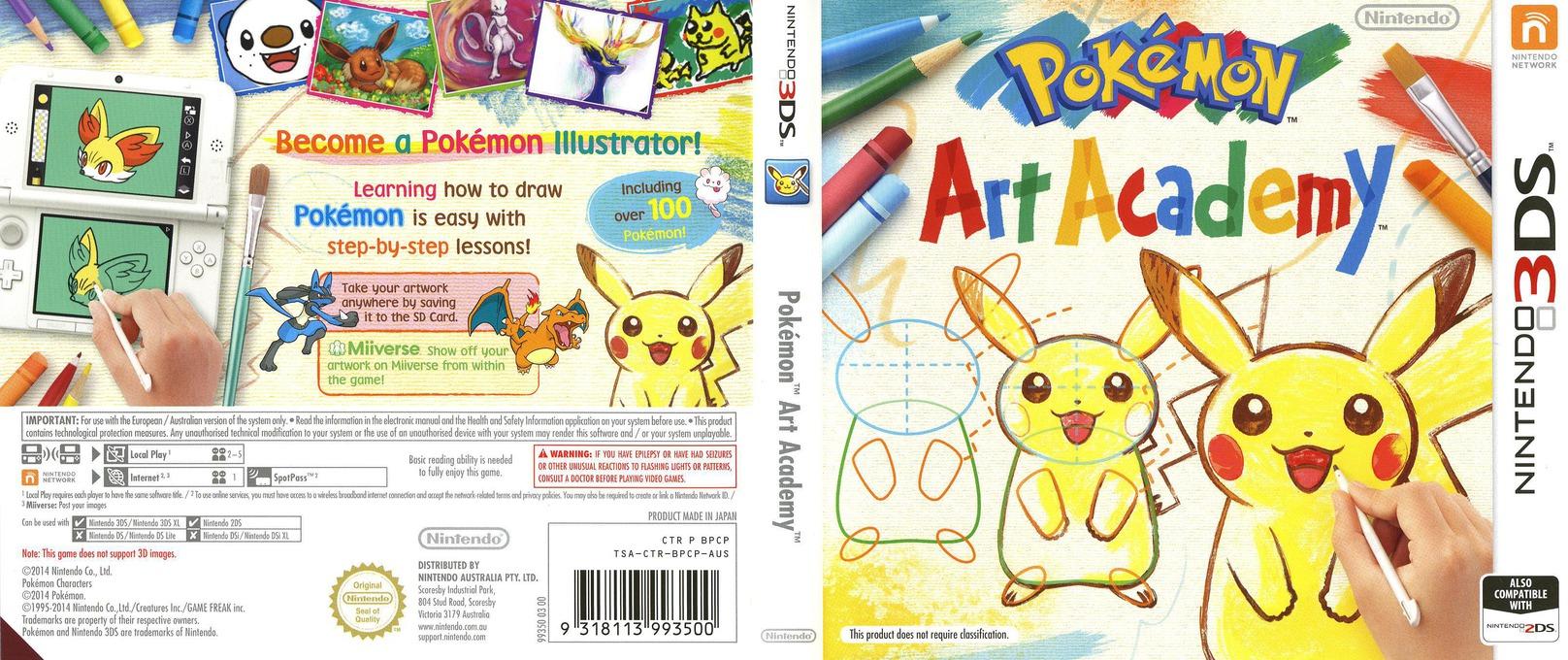 Pokémon Art Academy 3DS coverfullHQ (BPCP)