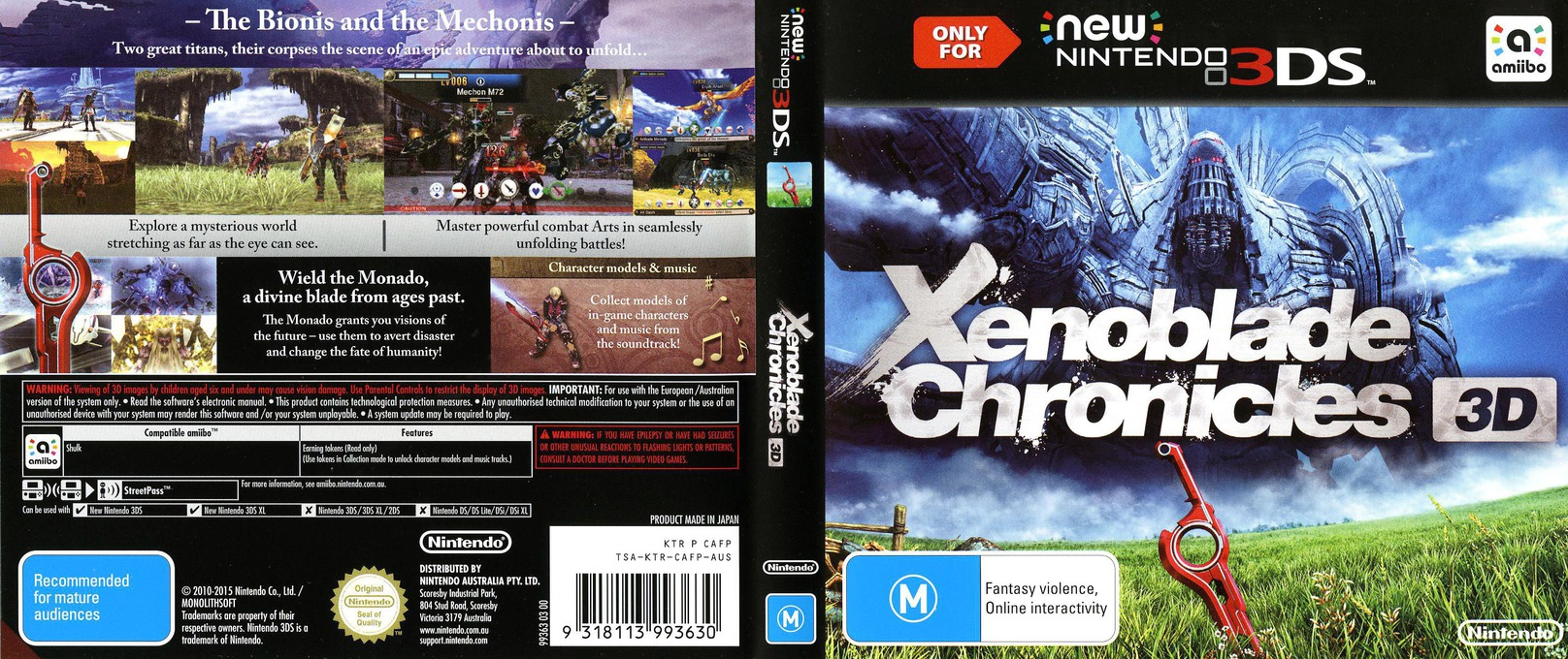 Xenoblade Chronicles 3D 3DS coverfullHQ (CAFP)