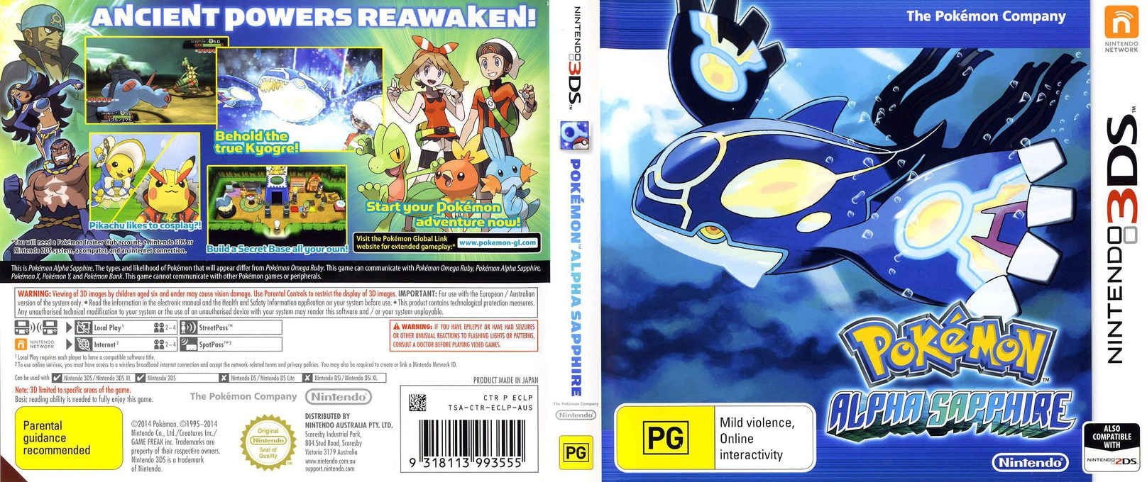 Pokémon Alpha Sapphire 3DS coverfullHQ (ECLP)