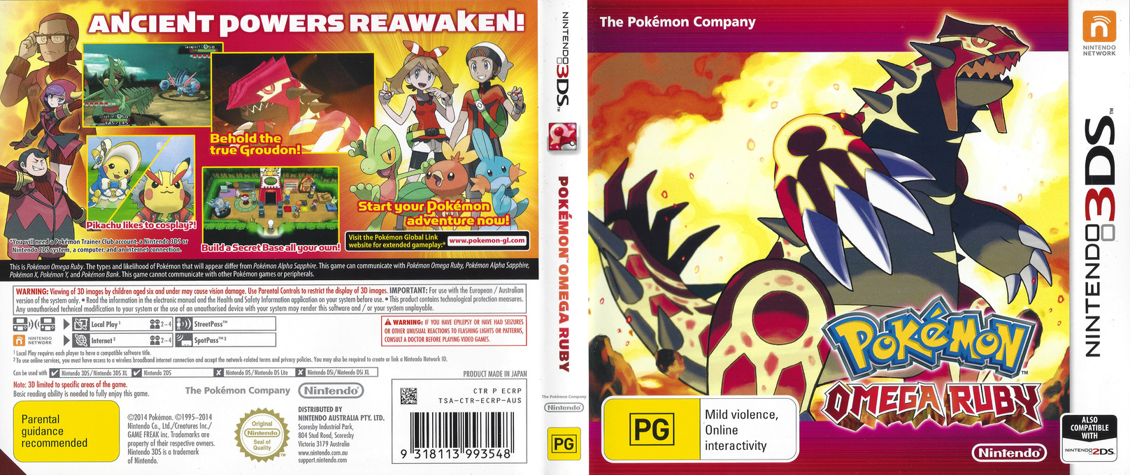 Pokémon Omega Ruby 3DS coverfullHQ (ECRP)