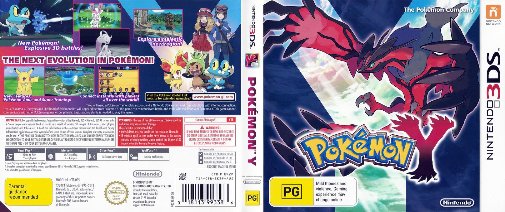 Pokémon Y 3DS coverfullHQ (EK2P)