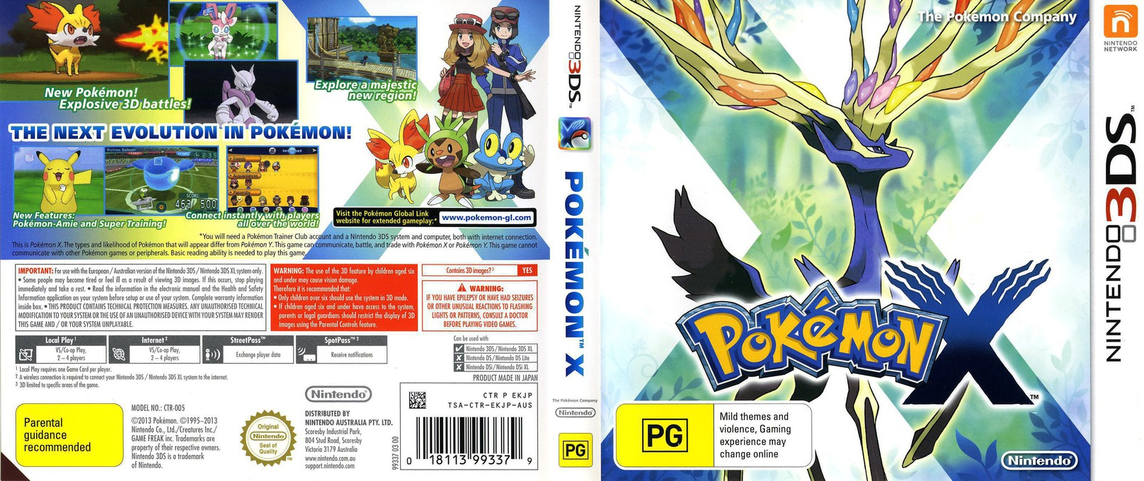 Pokémon X 3DS coverfullHQ (EKJP)