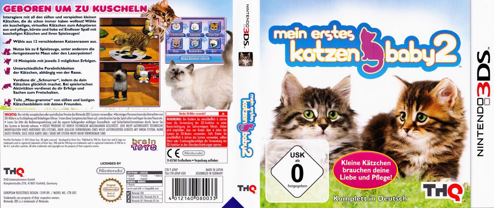 Meine ersten Katzenbabys 2 3DS coverfullHQ (AP6P)
