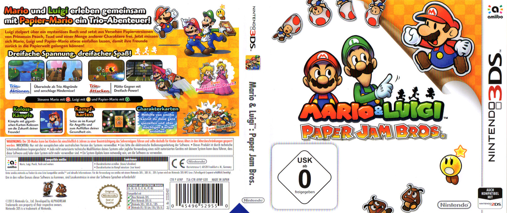 Aynp Mario Luigi Paper Jam Bros