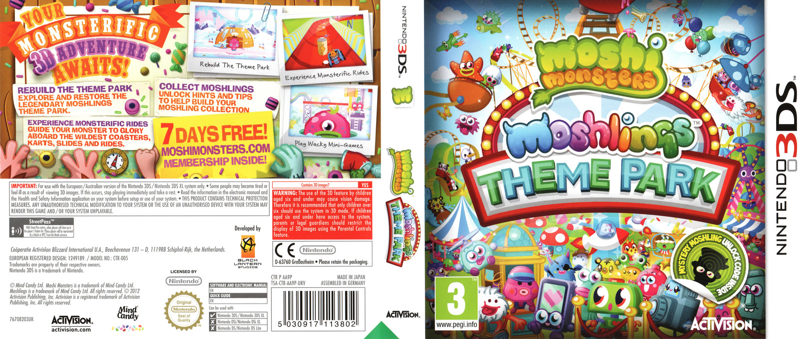 Moshi Monsters - Moshlings Theme Park 3DS coverfullHQ (AA9P)