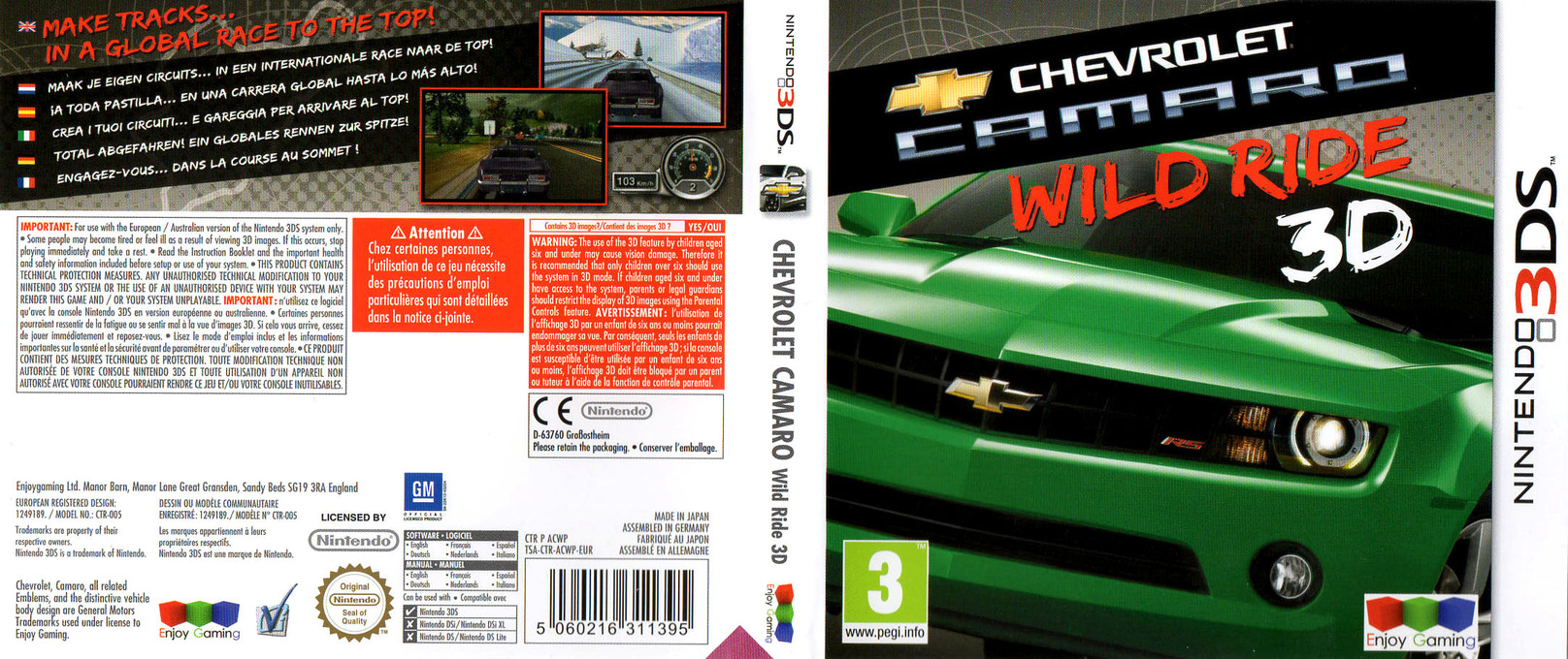 Chevrolet Camaro - Wild Ride 3D 3DS coverfullHQ (ACWP)