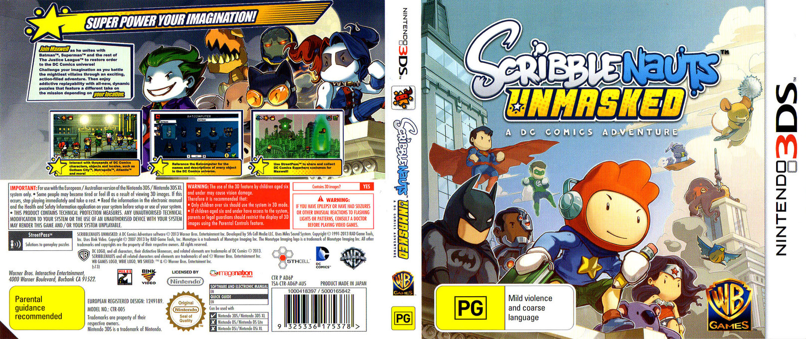 Scribblenauts Unmasked - A DC Comics Adventure 3DS coverfullHQ (AD6P)