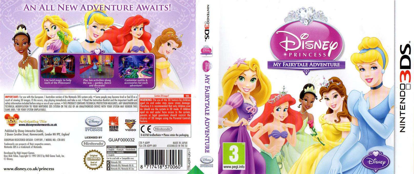 Disney Princess - My Fairytale Adventure 3DS coverfullHQ (ADPP)