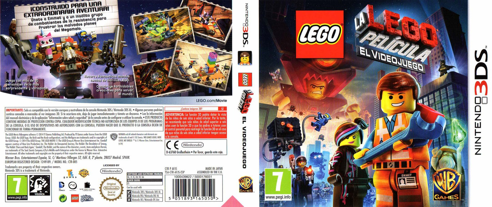 The LEGO Movie Videogame 3DS coverfullHQ (AFJS)
