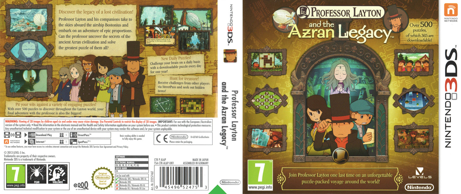 Professor Layton and the Azran Legacy 3DS coverfullHQ (AL6P)