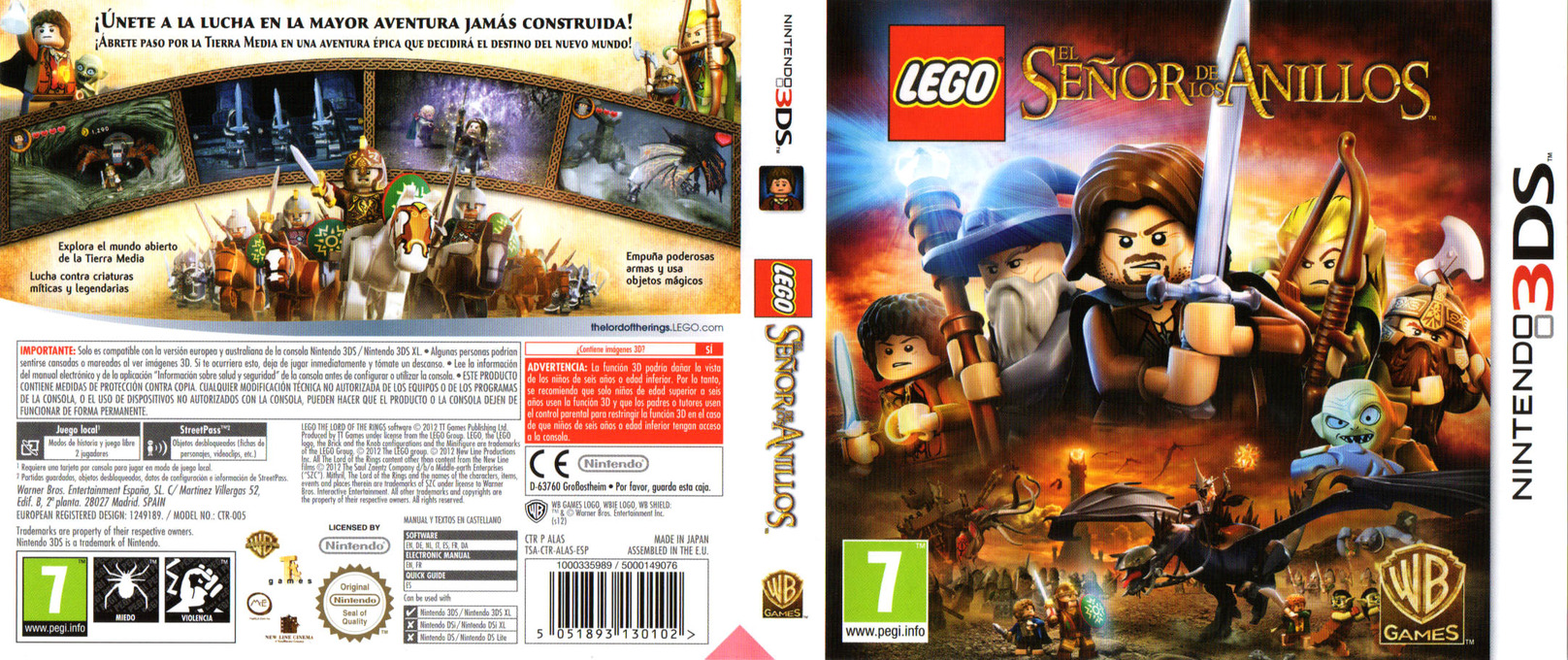 LEGO The Lord of the Rings 3DS coverfullHQ (ALAS)