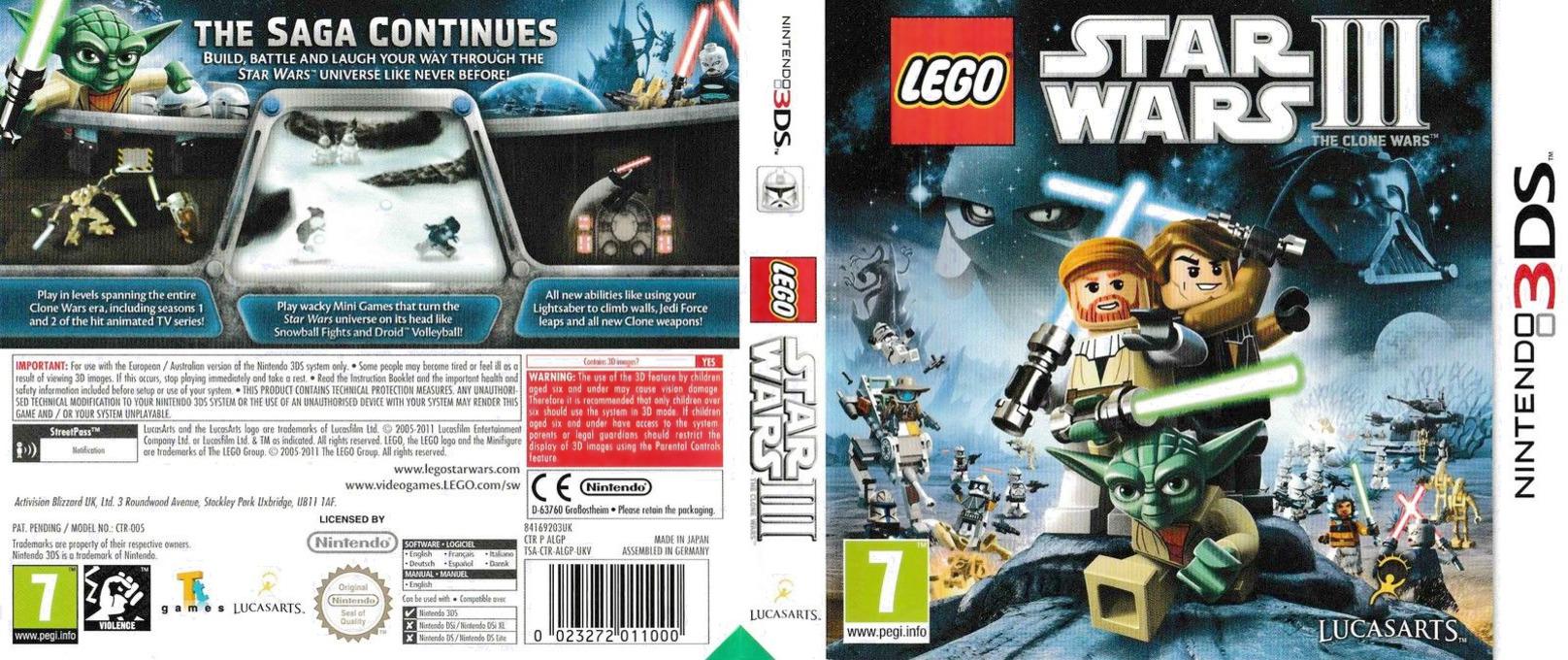LEGO Star Wars III - The Clone Wars 3DS coverfullHQ (ALGP)
