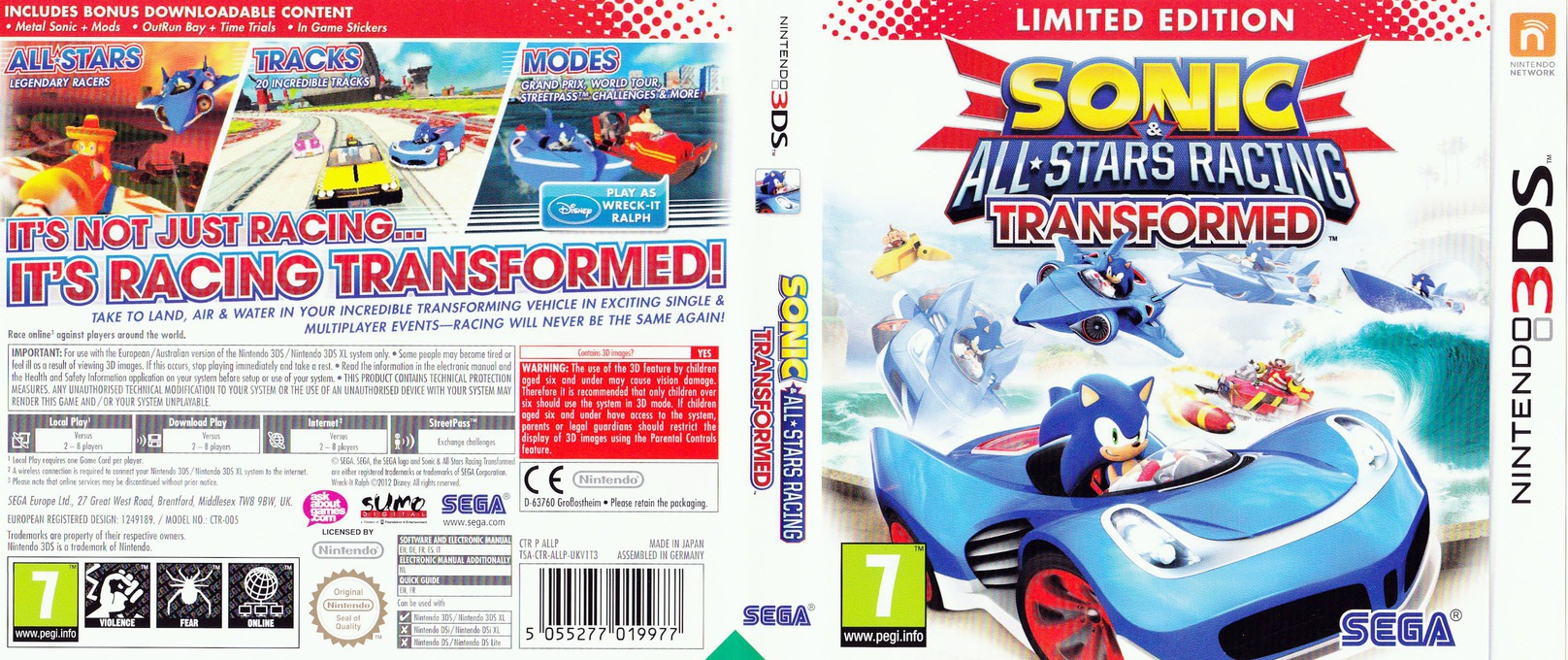 Sonic & All-Stars Racing Transformed 3DS coverfullHQ (ALLP)