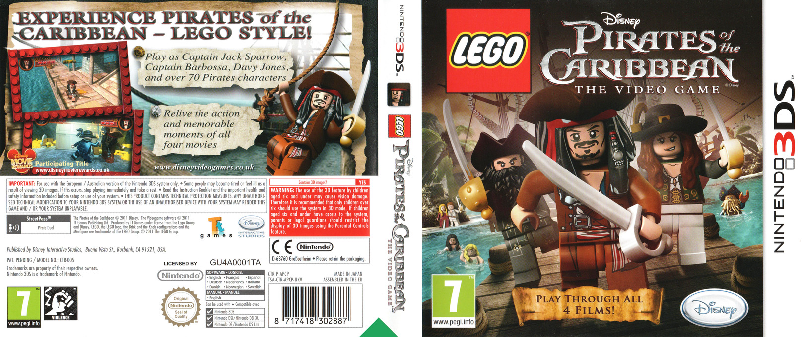 LEGO Pirates of the Caribbean - The Video Game 3DS coverfullHQ (APCP)