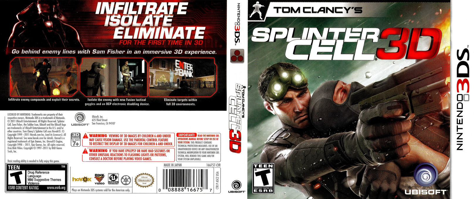 Tom Clancy's Splinter Cell 3D 3DS coverfullHQ (ASCZ)