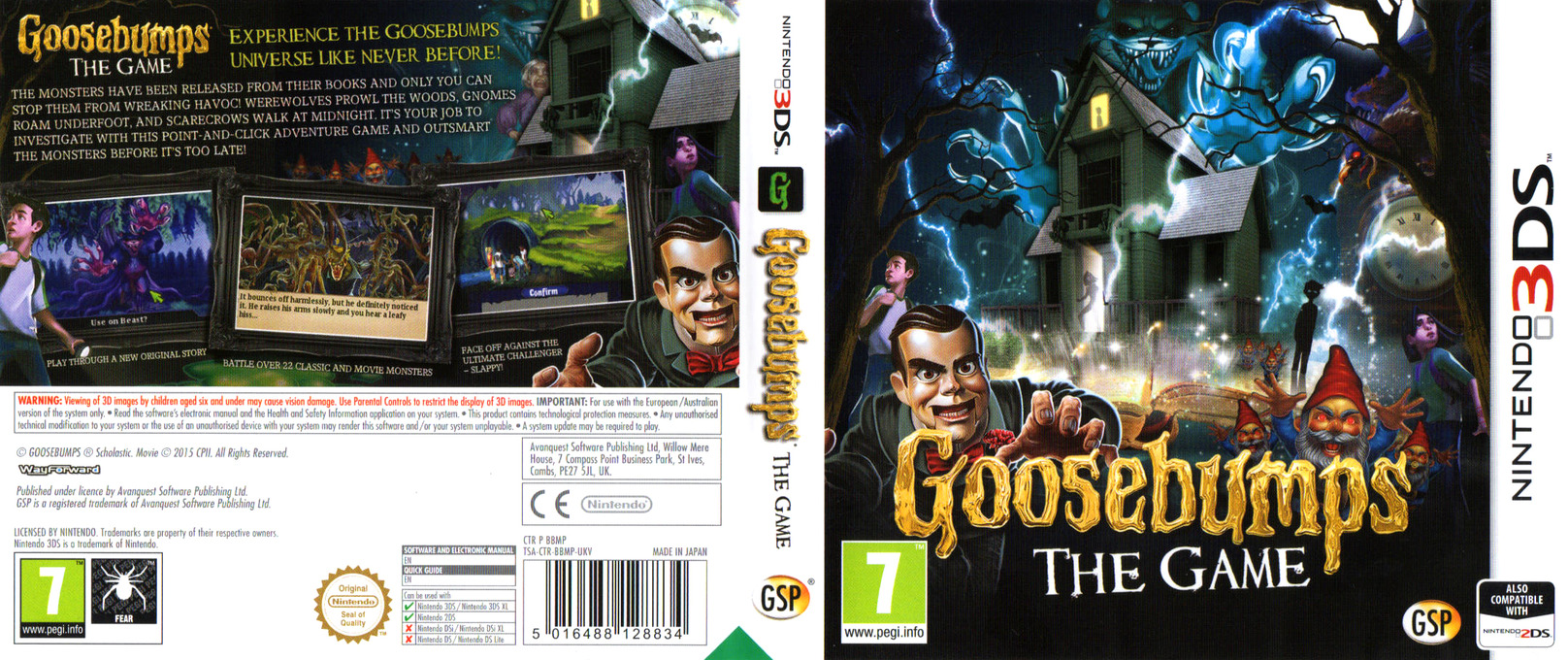 Goosebumps - The Game 3DS coverfullHQ (BBMP)