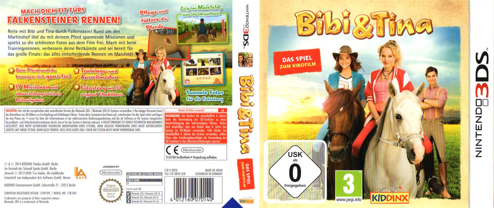 Bibi & Tina - Das Spiel zum Kinofilm 3DS coverfullHQ (BBTD)