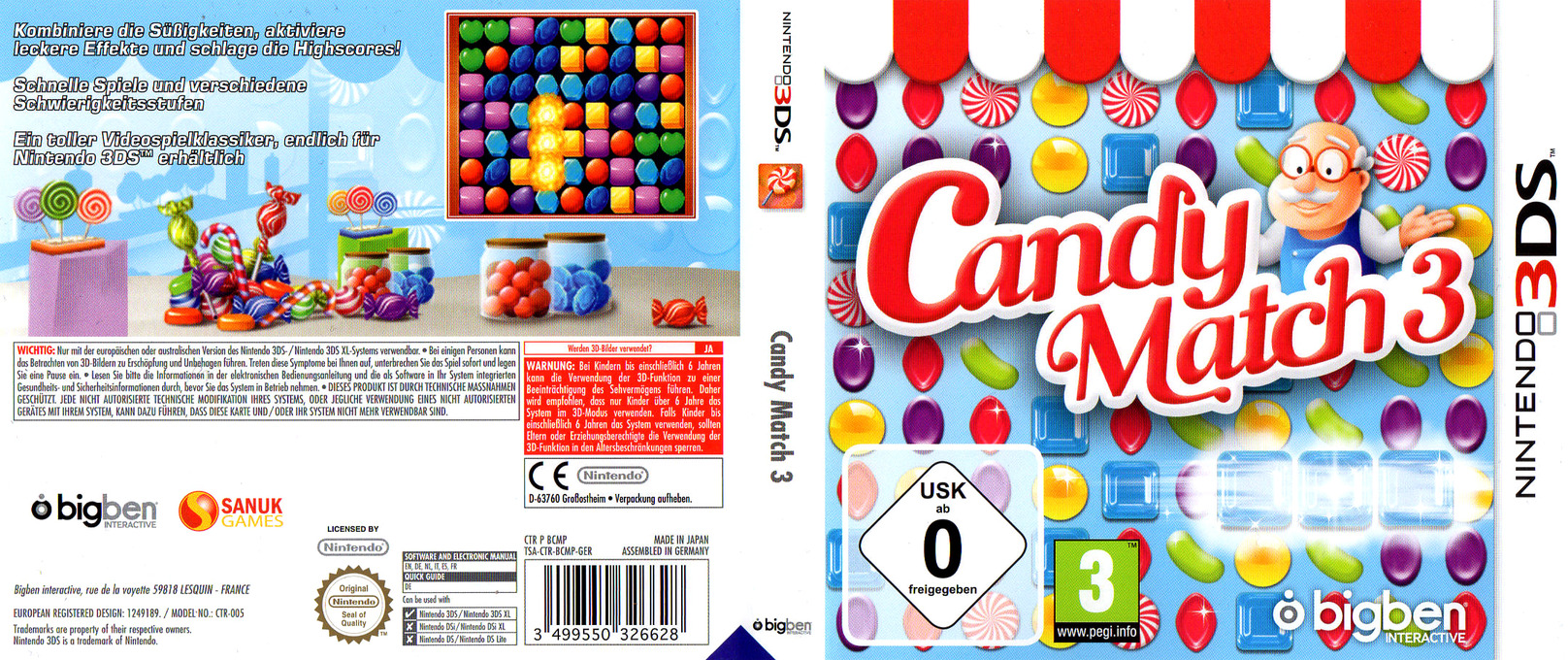 Candy Match 3 3DS coverfullHQ (BCMP)