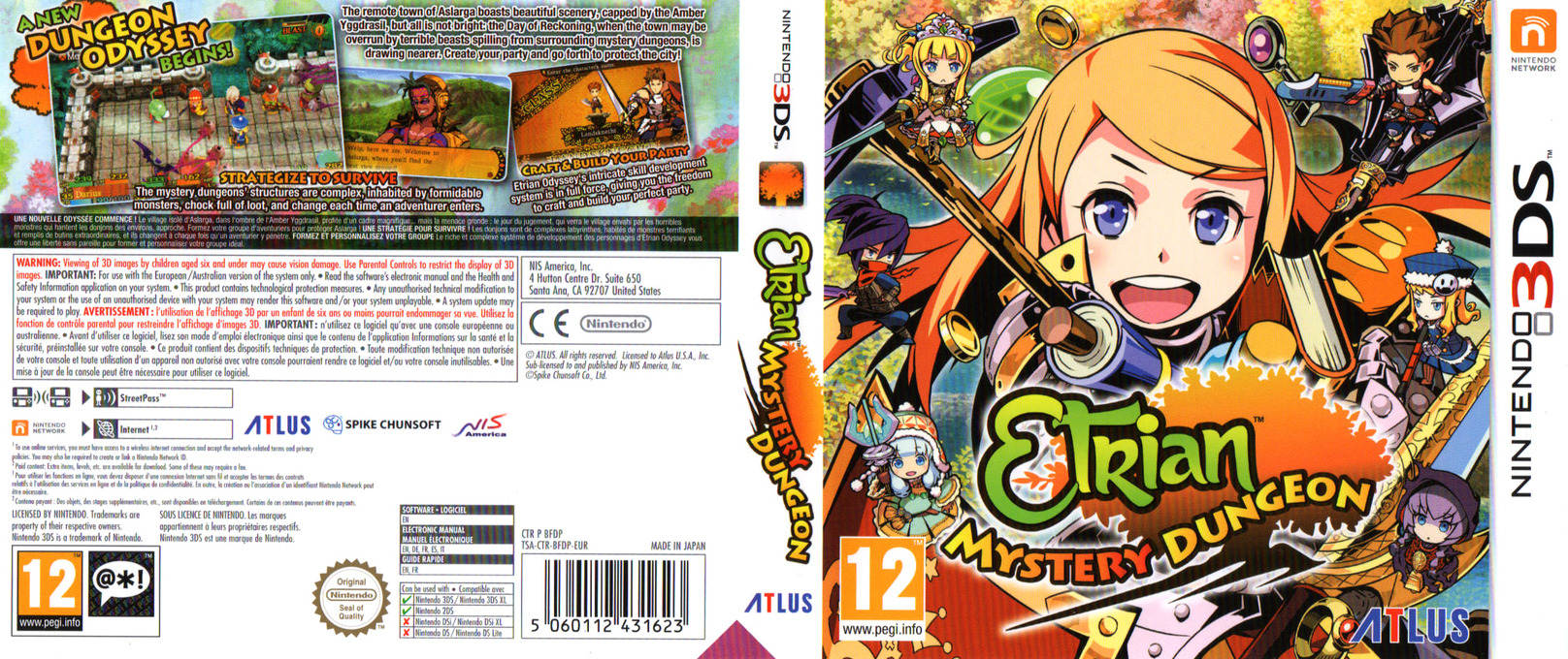 Etrian Mystery Dungeon 3DS coverfullHQ (BFDP)