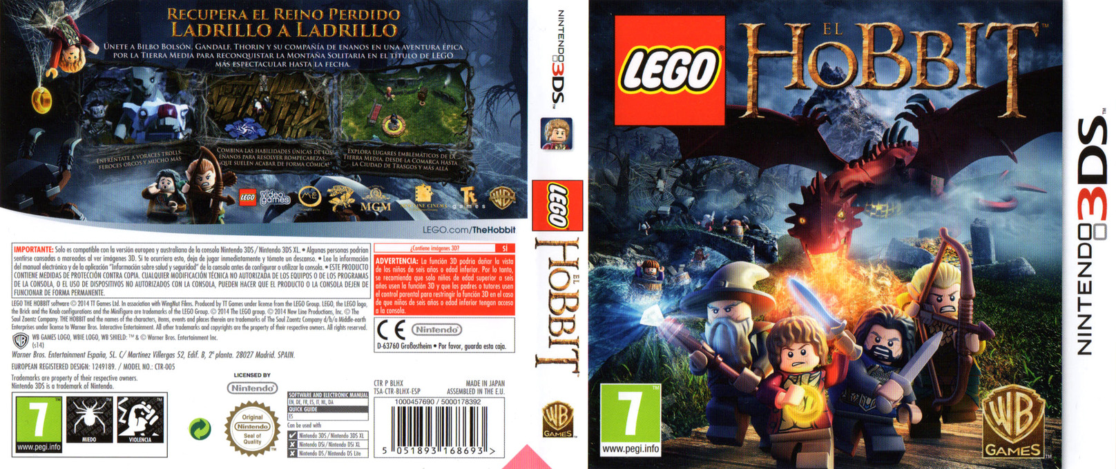 LEGO The Hobbit 3DS coverfullHQ (BLHX)