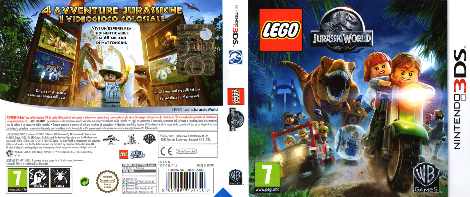 LEGO Jurassic World 3DS coverfullHQ (BLJV)