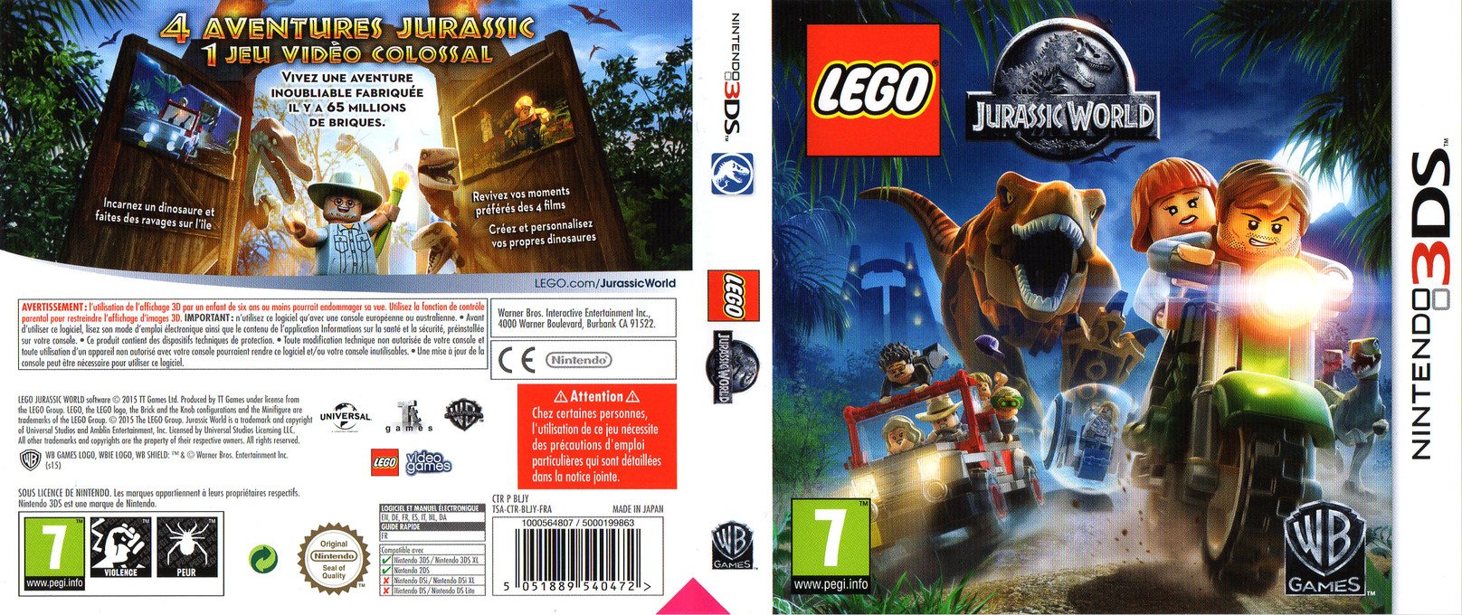 LEGO Jurassic World 3DS coverfullHQ (BLJY)