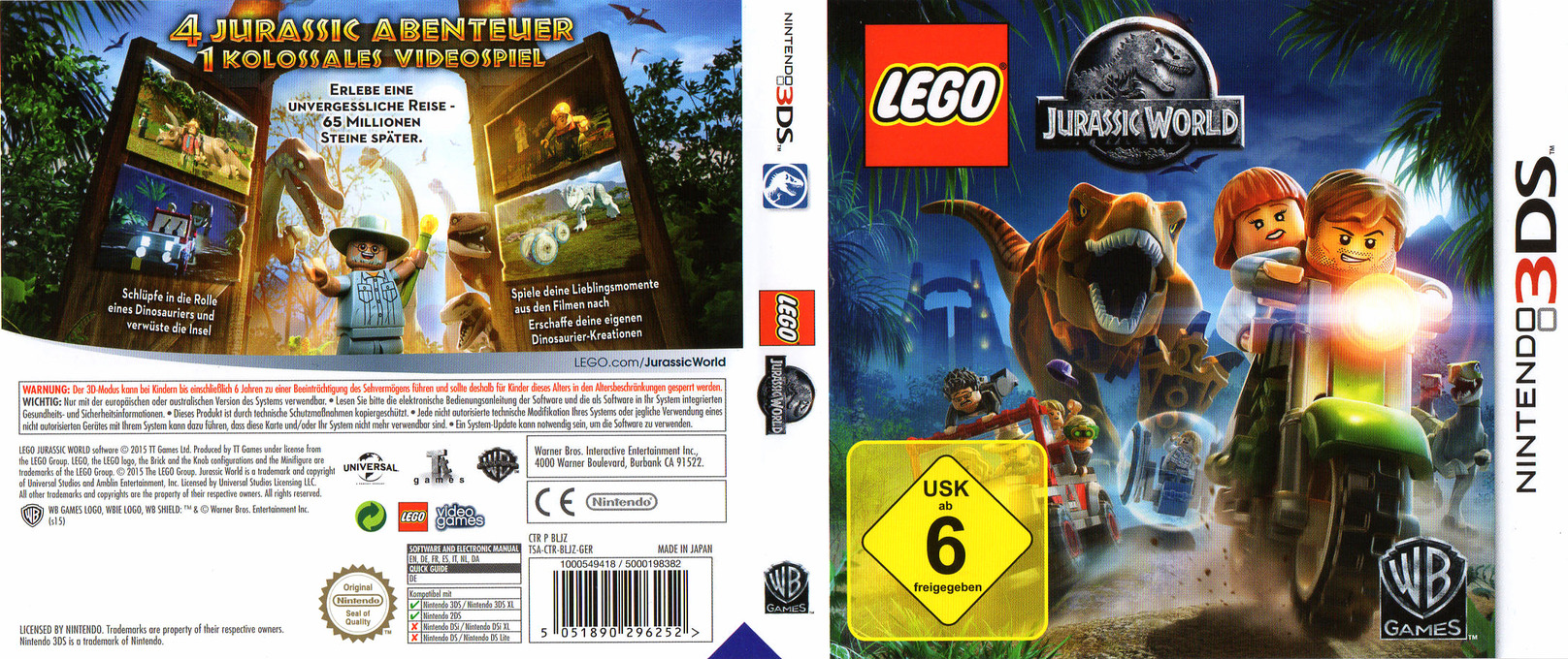 LEGO Jurassic World 3DS coverfullHQ (BLJZ)