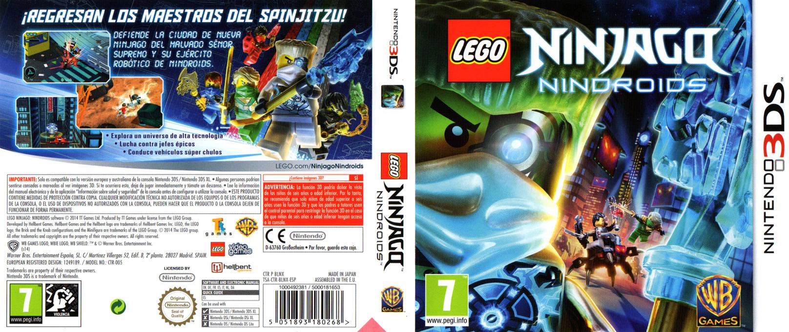 LEGO Ninjago - Nindroids 3DS coverfullHQ (BLNX)