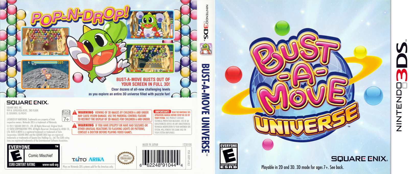 Bust-a-Move Universe 3DS coverfullHQ (ABBE)