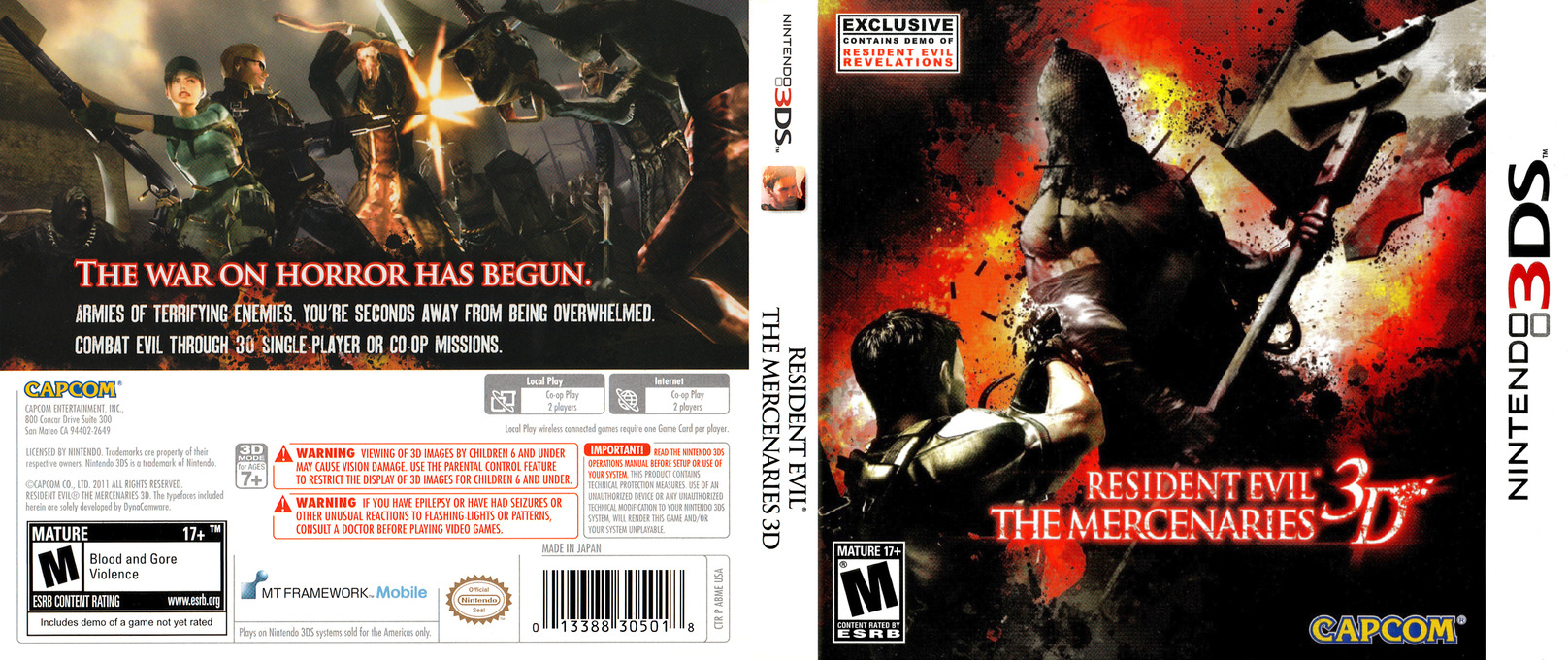 Resident Evil - The Mercenaries 3D 3DS coverfullHQ (ABME)