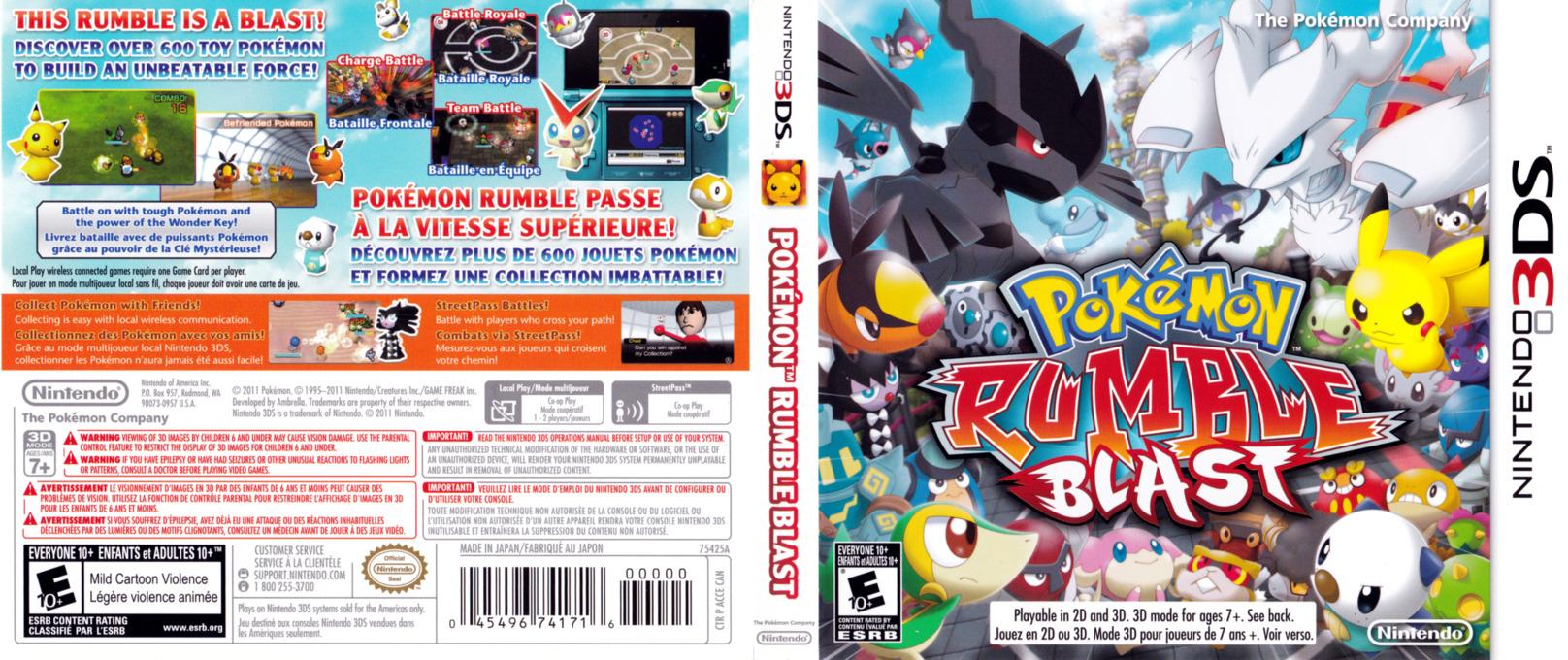Pokémon Rumble Blast 3DS coverfullHQ (ACCE)