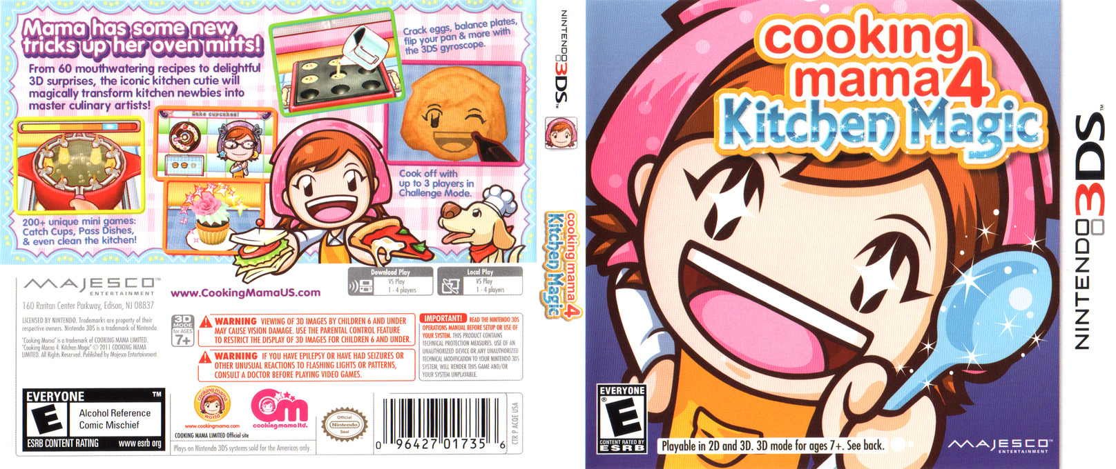 Cooking Mama 4 - Kitchen Magic 3DS coverfullHQ (ACQE)
