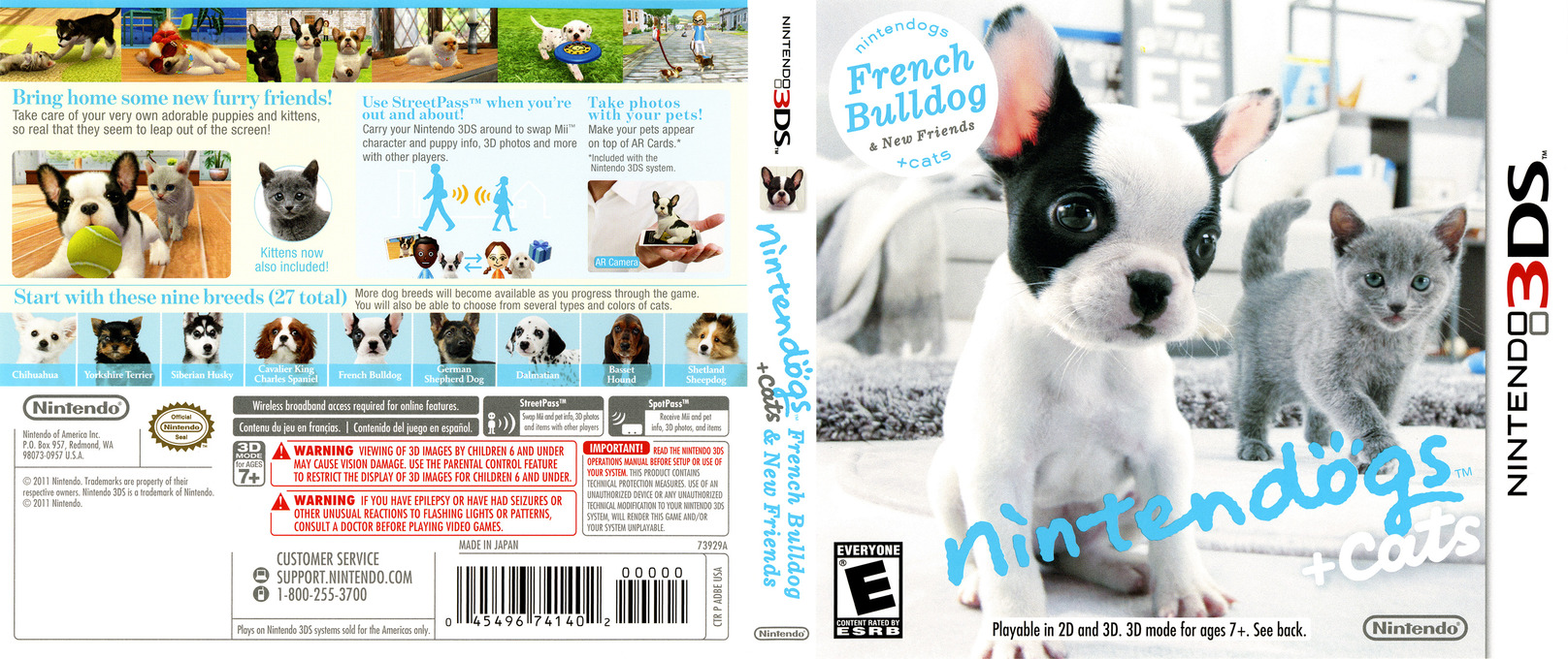 Nintendogs + Cats - French Bulldog & New Friends 3DS coverfullHQ (ADBE)