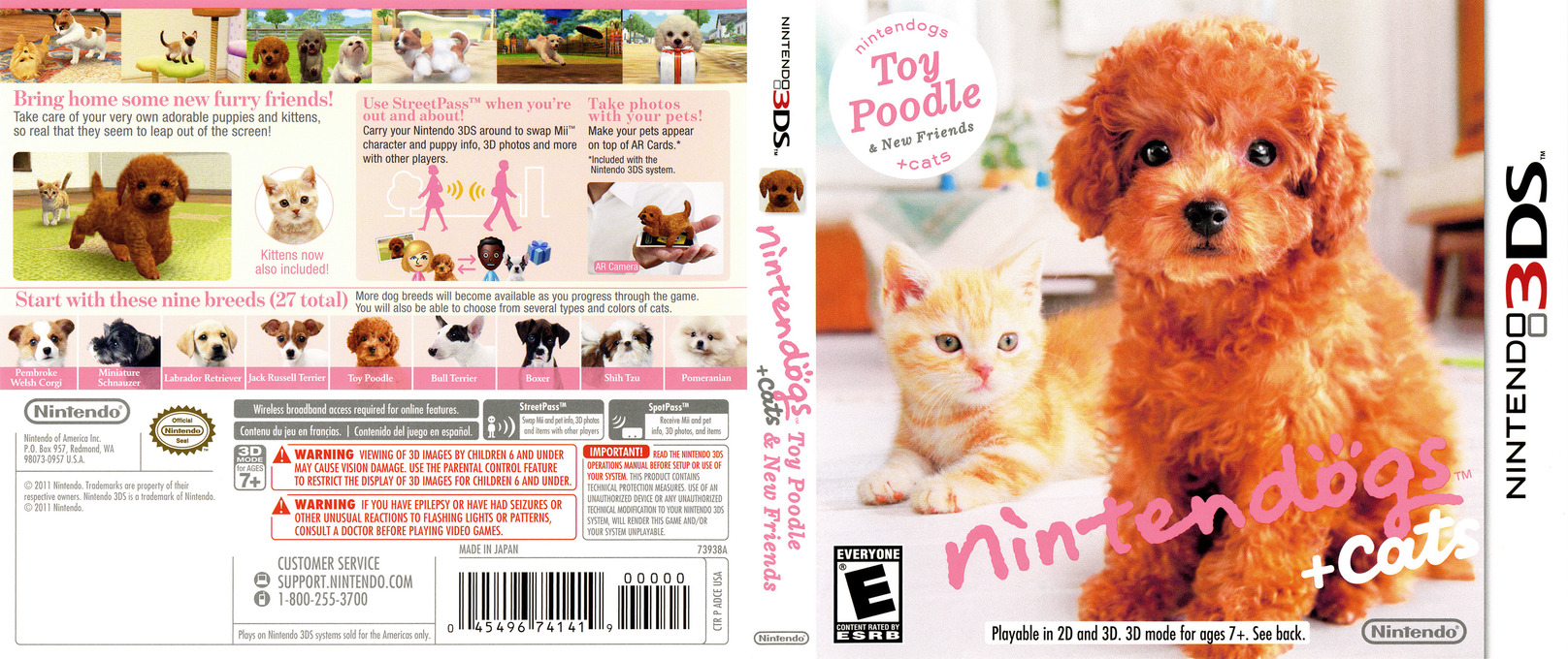Nintendogs + Cats - Toy Poodle & New Friends 3DS coverfullHQ (ADCE)