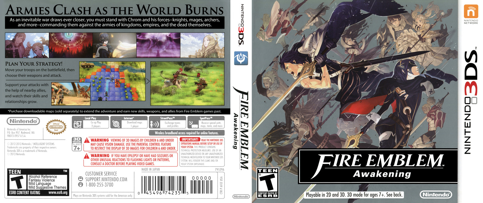 Fire Emblem - Awakening 3DS coverfullHQ (AFEE)