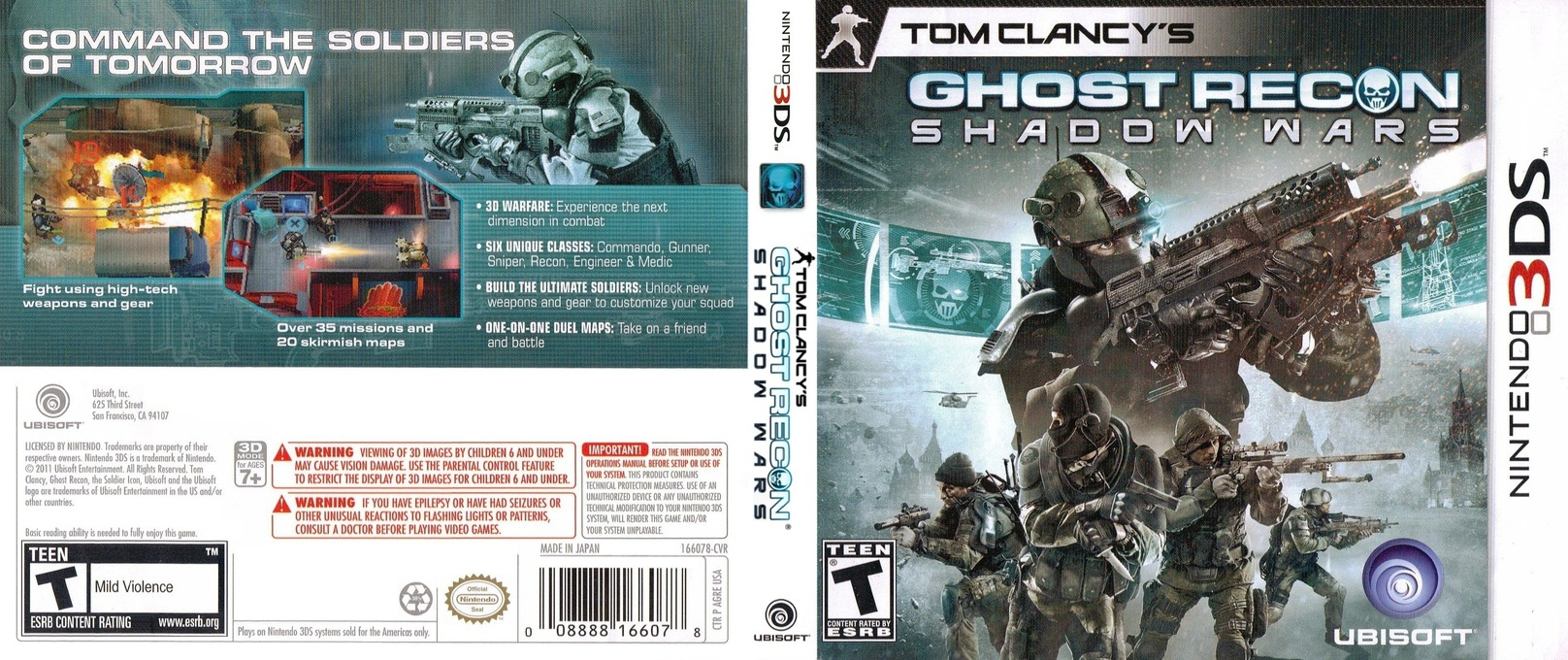 Tom Clancy's Ghost Recon - Shadow Wars 3DS coverfullHQ (AGRE)