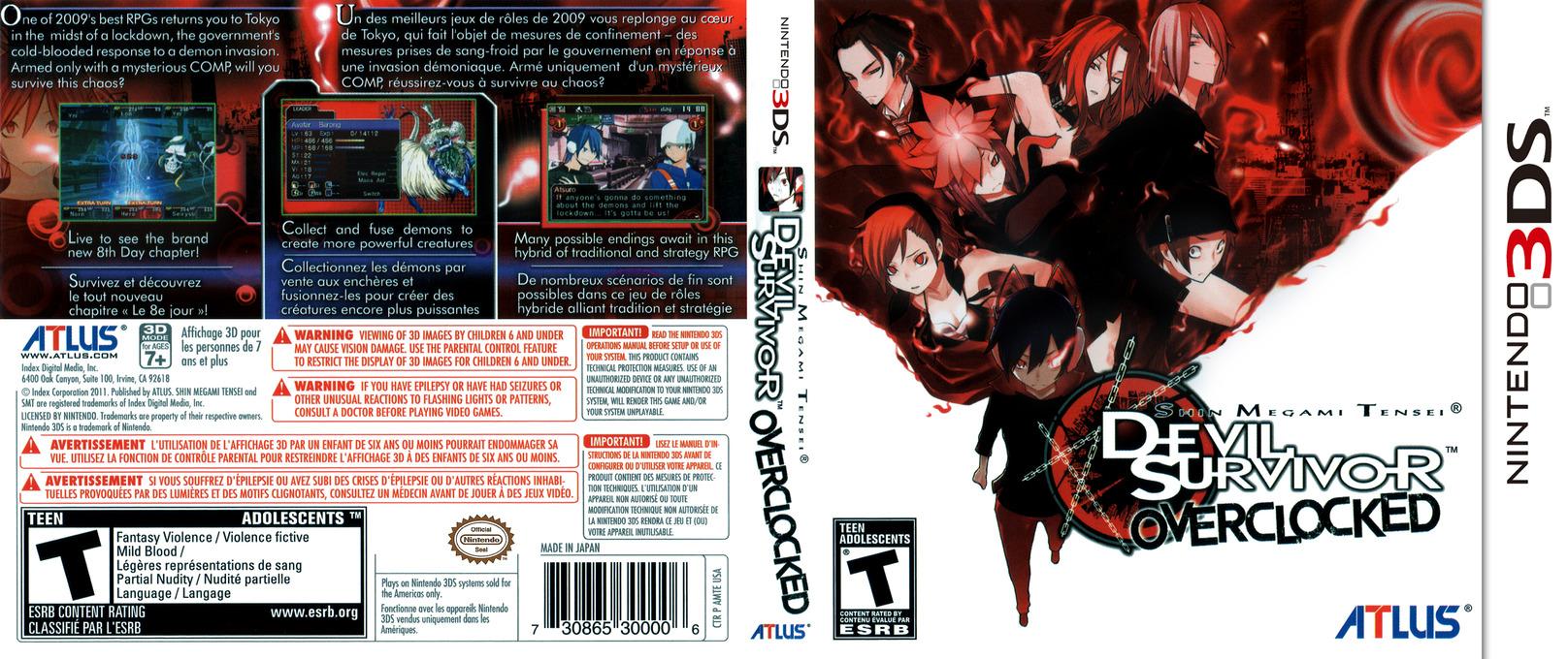 Shin Megami Tensei - Devil Survivor Overclocked 3DS coverfullHQ (AMTE)