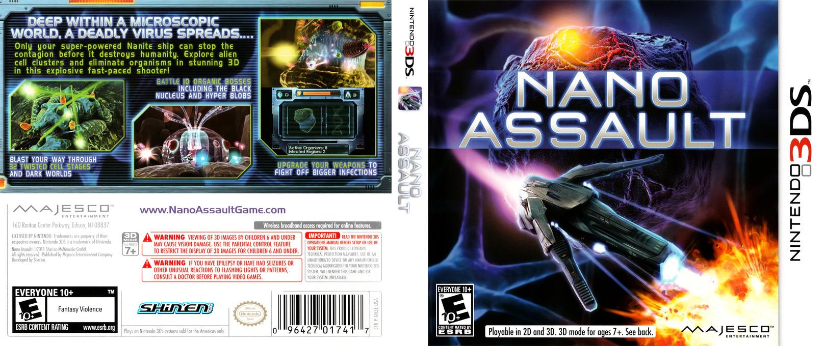 Nano Assault 3DS coverfullHQ (AN3E)