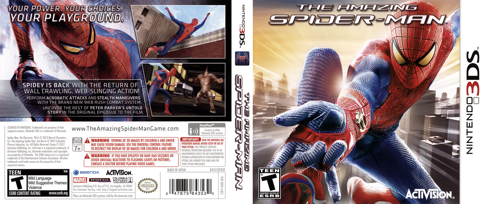 The Amazing Spider-Man 3DS coverfullHQ (AS8E)