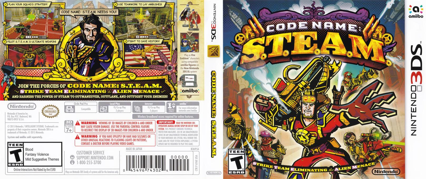 Code Name: S.T.E.A.M. 3DS coverfullHQ (AY6E)